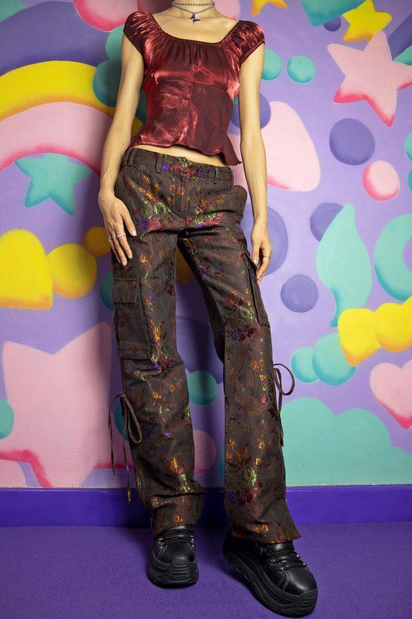 Boho Vintage Y2K Roberto Cavalli Cargo Pants – XS 90s pants