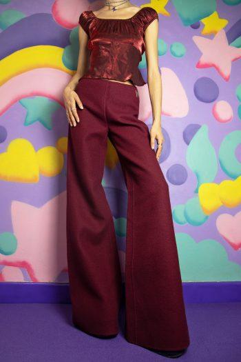 Pants Vintage 90's Wool Wide Leg Pants – XS 90s pants
