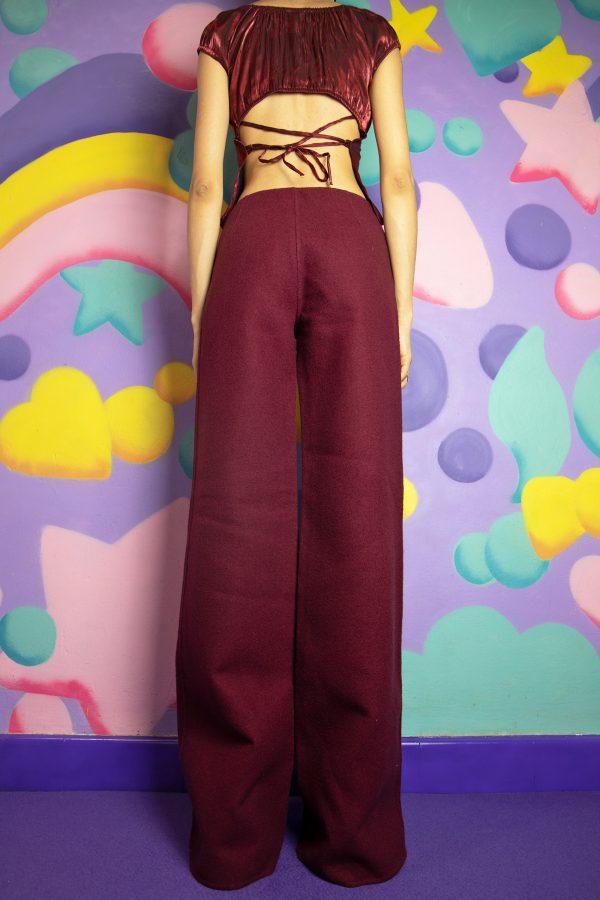 Boho Vintage 90's Wool Wide Leg Pants – XS 90s pants