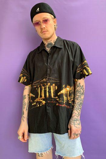 Cyber Vintage 90's Black Graphic Shirt – L 90s shirt