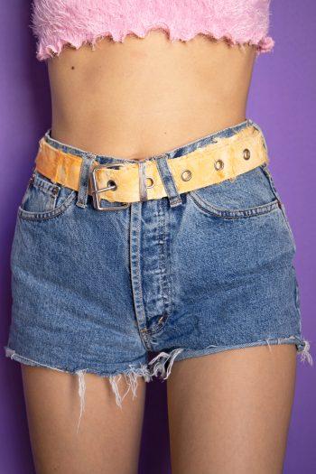 Belts Vintage Y2K Orange Tie Dye Belt buckle belt