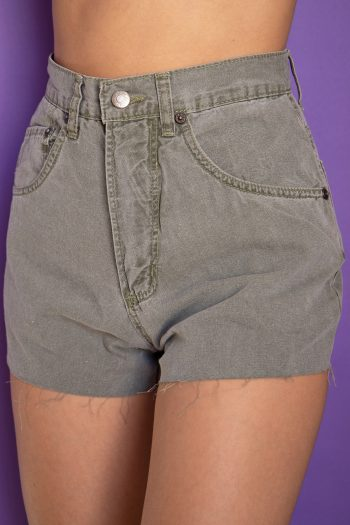 Goth ♡ Grunge Vintage 90's Green Cut Off Shorts – XS 90s shorts