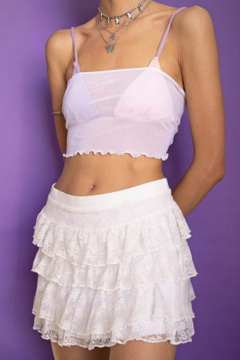 Bustiers & Crops Vintage 90's White Mesh Tube Top – L 90s top