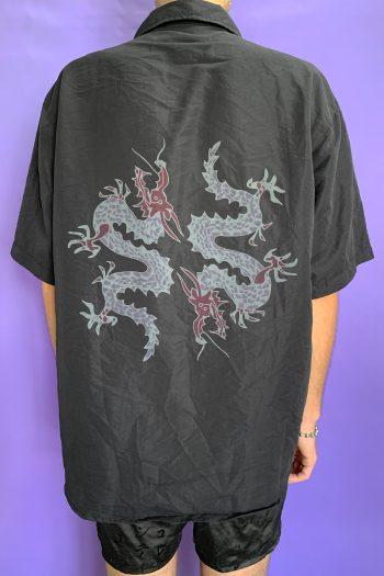 Cyber Vintage 90's Black Dragon Shirt – XL 90s shirt