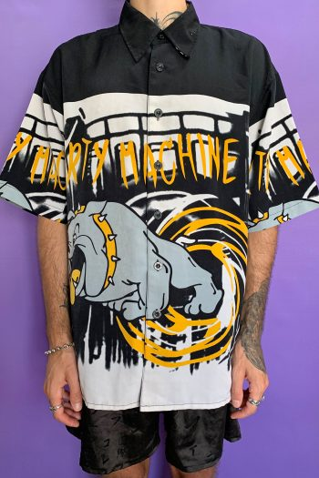 Cyber Vintage 90's Black Graffiti Shirt – XL 90s shirt