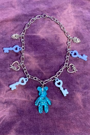 Festival Baby Blue Chunky Chain Choker choker