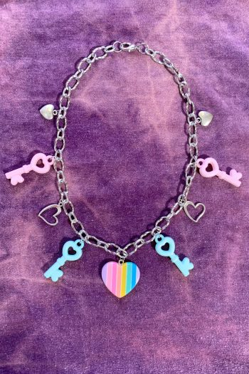 Festival Pastel Rainbow Chunky Chain Choker choker