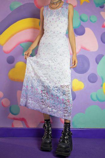 Dresses Vintage 90's White Lace Maxi Dress – S/M 90s dress