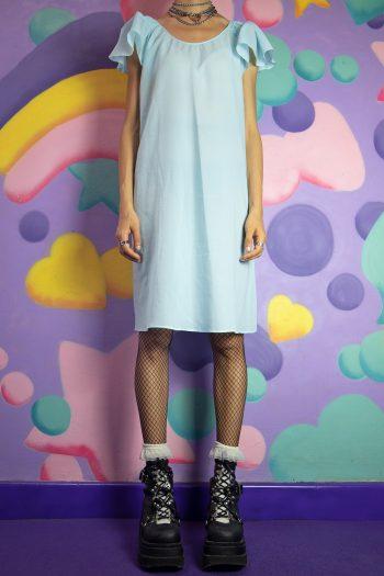 Dresses Vintage 80's Blue Sheer Nightgown Dress – L 90s dress