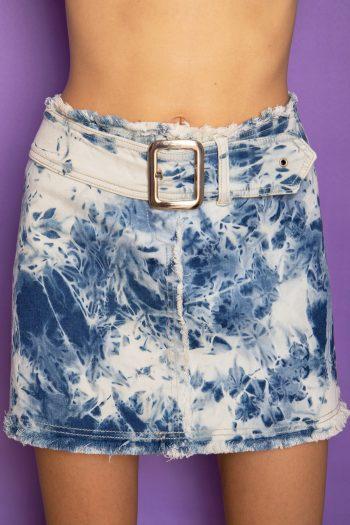Cyber Vintage Y2K Belted Mini Skirt – L belted skirt