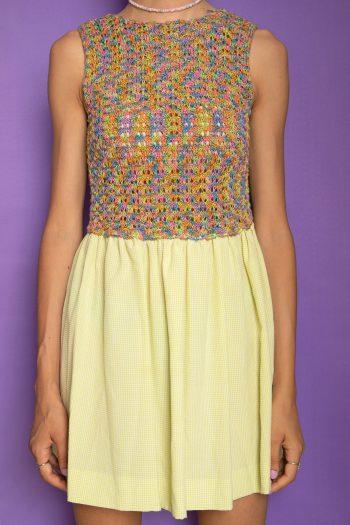 Dresses Vintage 90's Crochet Mini Dress – XXS 90s dress