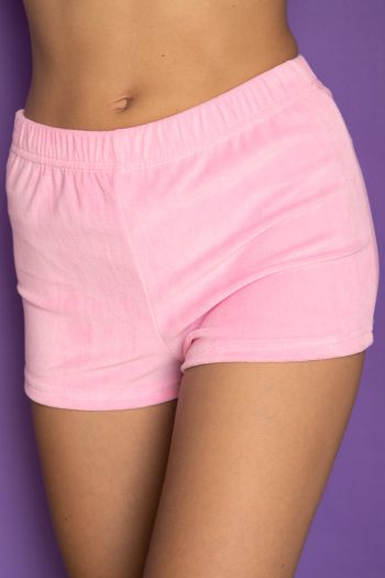 Festival Vintage Y2K Pink Velvet Shorts – XS Size XS