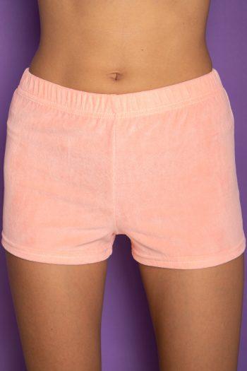 Festival Vintage Y2K Orange Velvet Shorts – XS Size XS