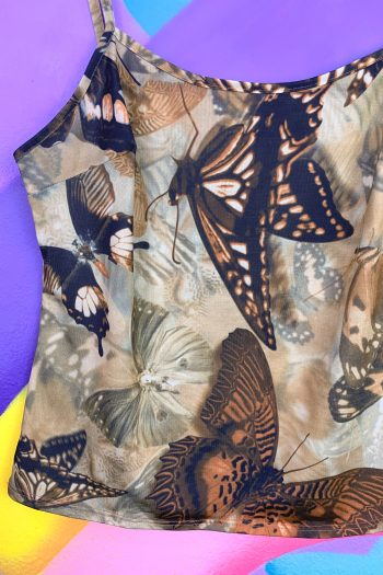 Boho Vintage 90's Butterfly Tank Top – S 90s top
