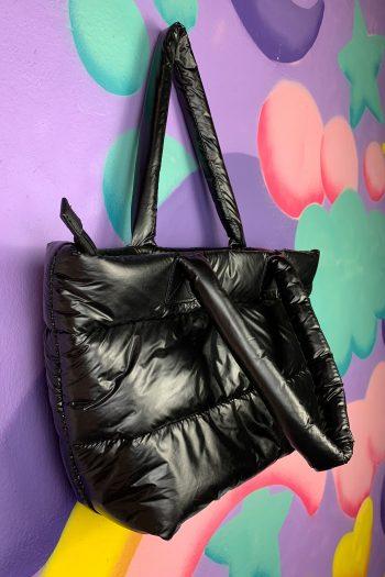 Bags Vintage Y2K Black Puff Shoulder Bag shoulder bag