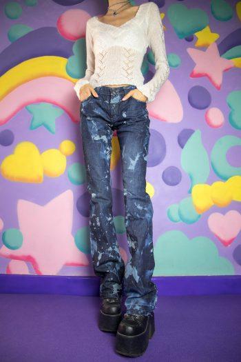 Cyber Vintage Y2K Tie Dye Jeans – S denim pants