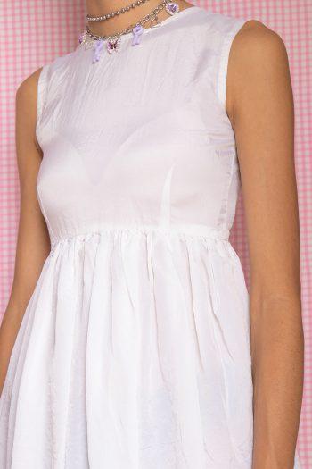 Dresses Vintage 80's White Fit & Flare Dress – XXS 90s dress