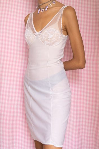 Dresses Vintage 80's White Lace Sheer Nightie – S 90s dress