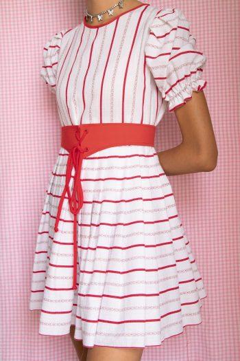 Boho Vintage 80's Puff Sleeve Mini Dress – XXS 90s dress