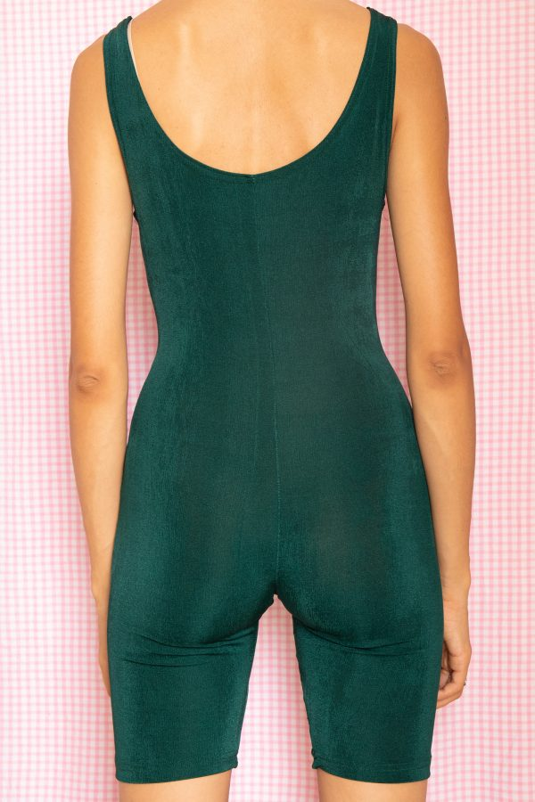 Cyber Vintage 90's Green Biker Shorts Bodysuit – S 90s bodysuit
