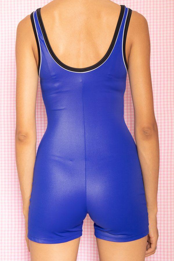 Cyber Vintage 90's Blue Biker Shorts Bodysuit – XS 90s bodysuit