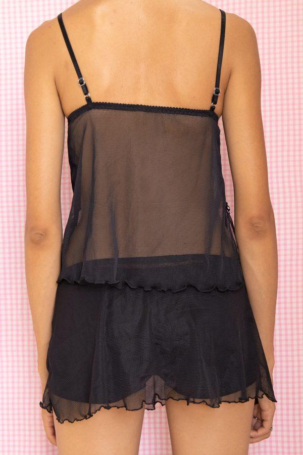 Cyber Vintage 90's Black Lace Lingerie Skirt Set – XS 90s lingerie set
