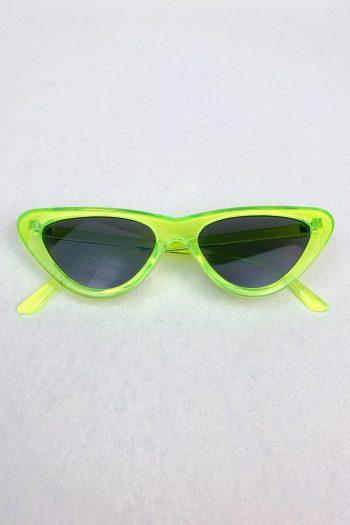 Cyber Neon Triangle Sunglasses Size L