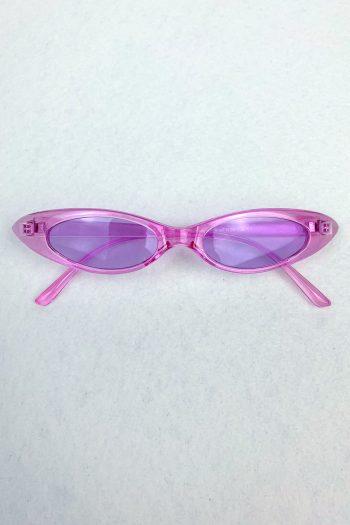 Festival Pastel Purple Slim Sunglasses Size L
