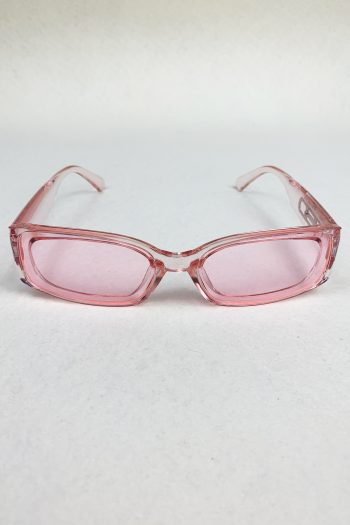 Cyber Pink Rectangle Sunglasses Size L