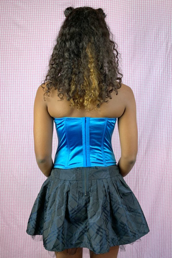 Bustiers & Crops Vintage Y2K Blue Lace Corset Bustier – M bras