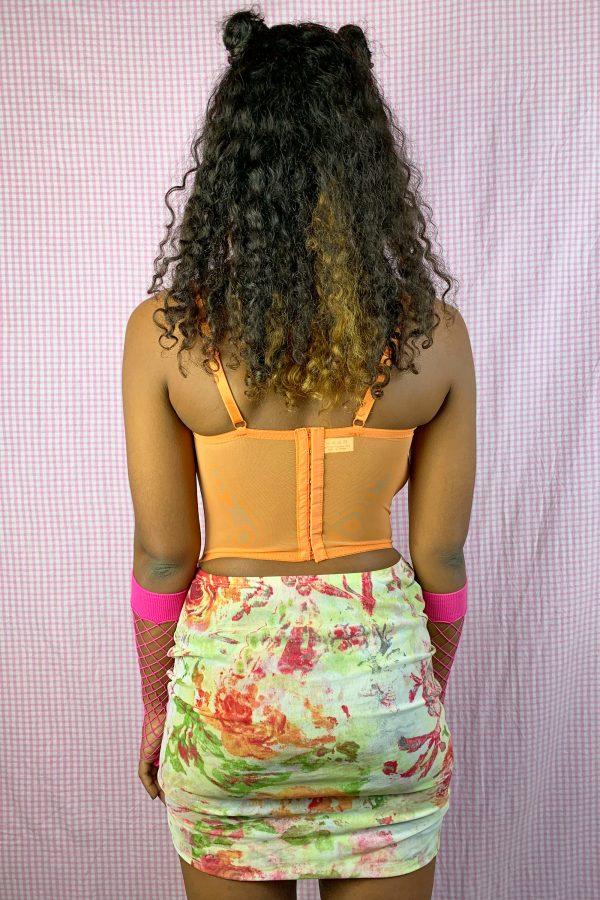 Bustiers & Crops Vintage Y2K Orange Ruched Corset Bustier – S bras
