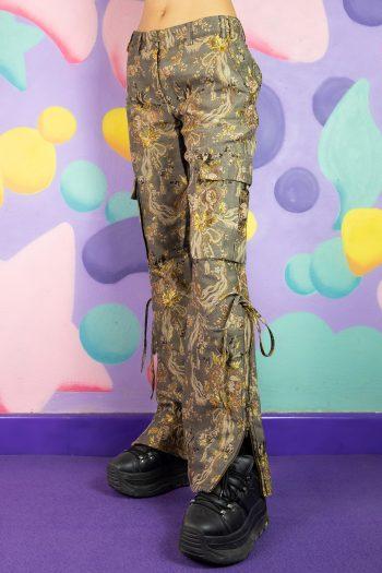 Boho Vintage Y2K Roberto Cavalli Cargo Pants – XS/S 90s pants