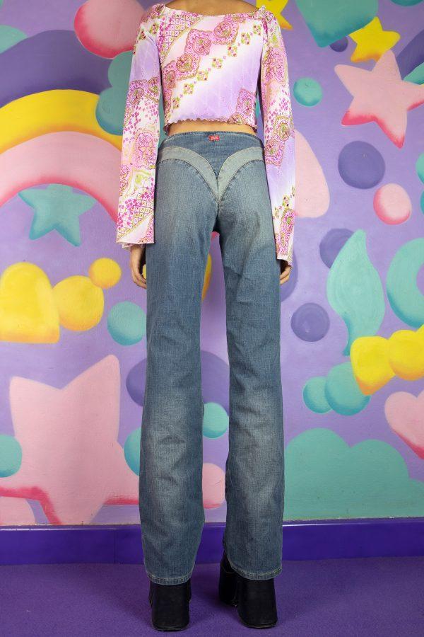 Cyber Vintage Y2K Miss Sixty Paneled Jeans – S denim pants
