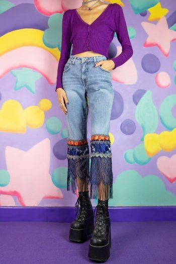Cyber Vintage Y2K Jnco Capri Jeans – S capri jeans